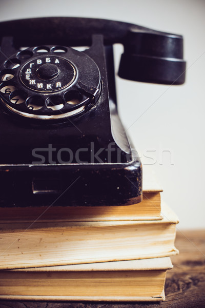 vintage rotary phone Stock photo © manera