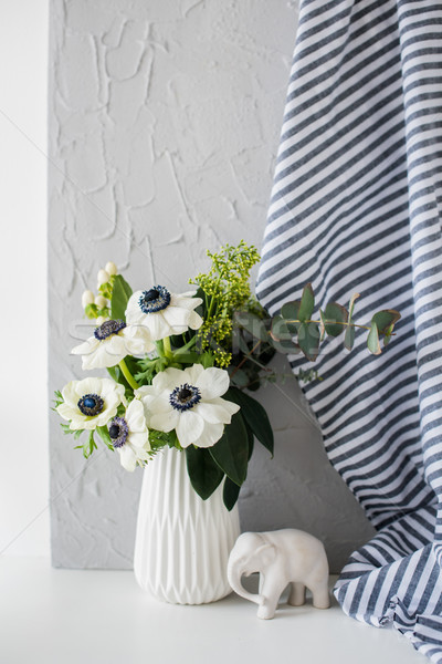 Stock photo: Still-life with an elegant bouquet of anemones