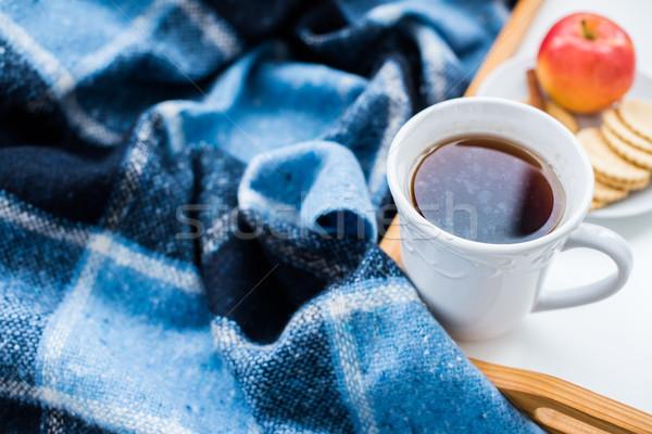 Confortável inverno café da manhã copo quente chá Foto stock © manera