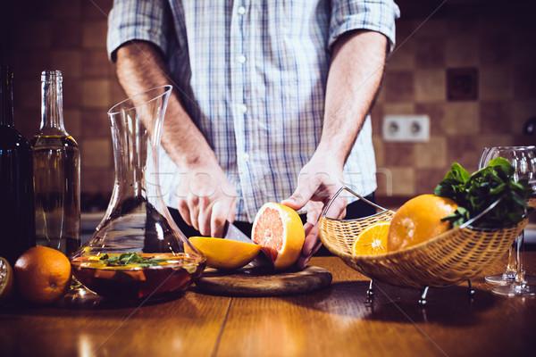 человека свежие домой вечеринка интерьер кухни Сток-фото © manera
