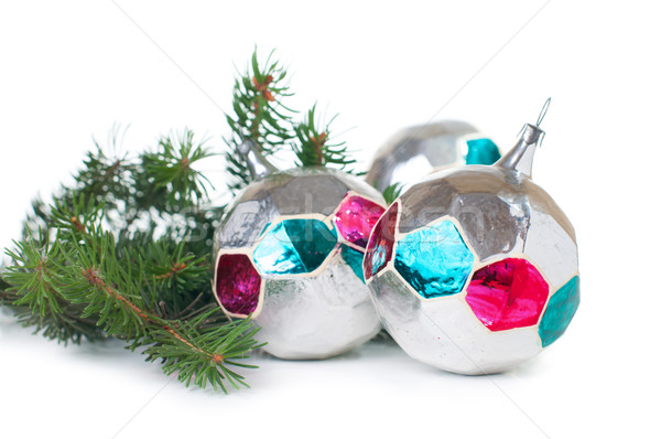 Decorações enfeitar vintage natal branco Foto stock © manera