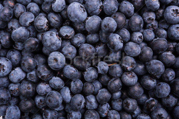 Fresh ripe blueberries macro shot, fruit background Stock photo © manera