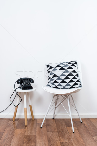simple decor objects, minimalist white interior Stock photo © manera