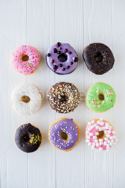 Different colorful sweet donuts Stock photo © manera