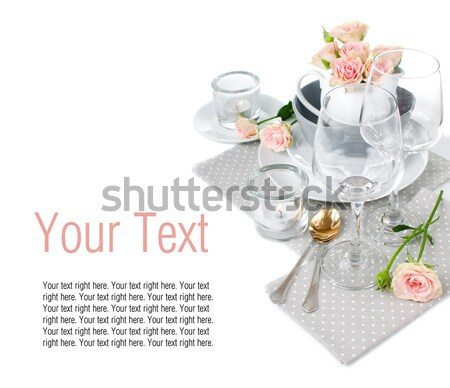 Festive table setting ready template Stock photo © manera