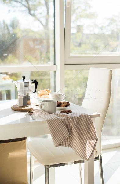 Сток-фото: французский · домой · завтрак · кофе · Cookies