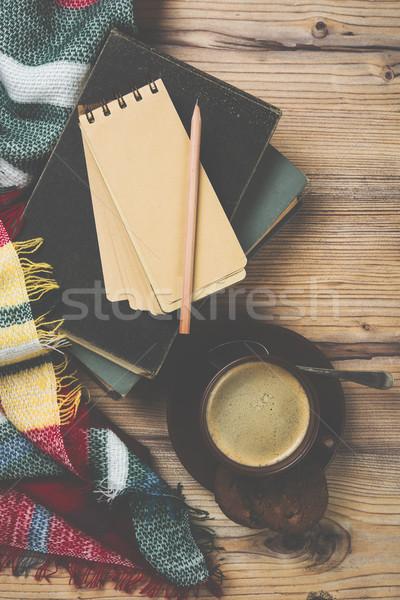 Gezellig home koffiekopje warm details Stockfoto © manera
