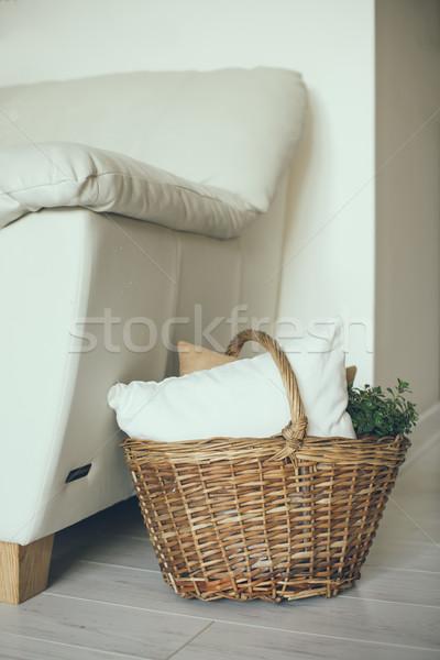 современных домой интерьер плетеный корзины Сток-фото © manera