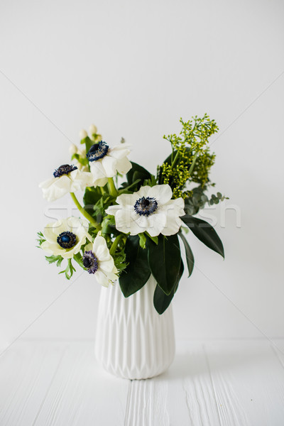 Stock photo: Elegant bouquet of anemones