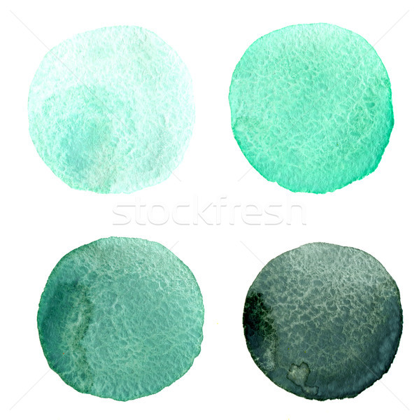 round watercolor stains Stock photo © manera