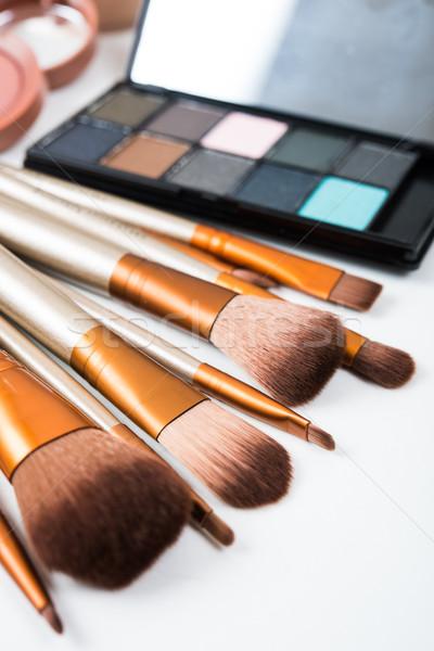 Stockfoto: Professionele · make · tools · producten · ingesteld · natuurlijke
