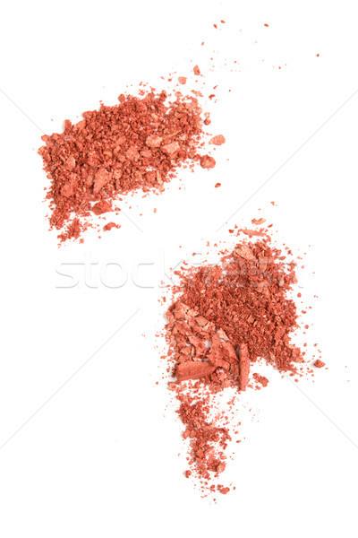 Szatén por kozmetikai izolált makró lövés Stock fotó © manera
