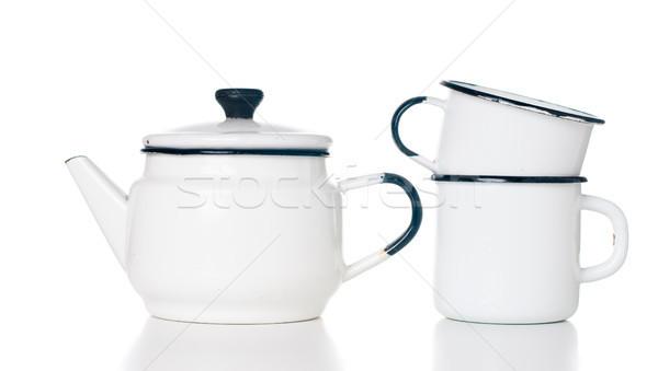 Casa utensílios de cozinha vintage isolado branco Foto stock © manera