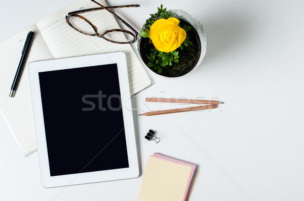 Министерство внутренних дел Desktop таблетка очки Smart Сток-фото © manera