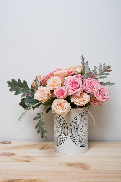 pink and beige roses Stock photo © manera