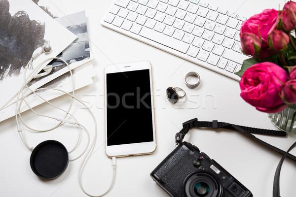 Moderne smartphone foto camera witte Stockfoto © manera