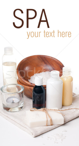 Products for body care and spa template Stock photo © manera