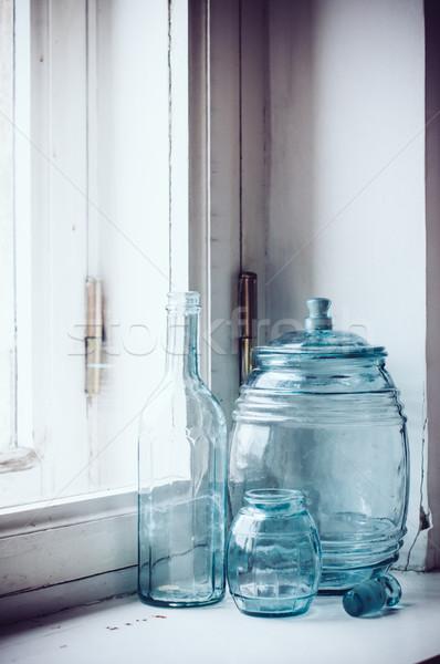 blue-green glass Stock photo © manera