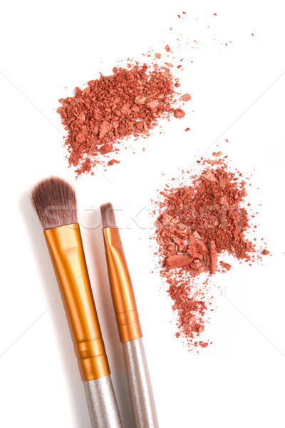 Make-up conjunto solto isolado pó branco Foto stock © manera