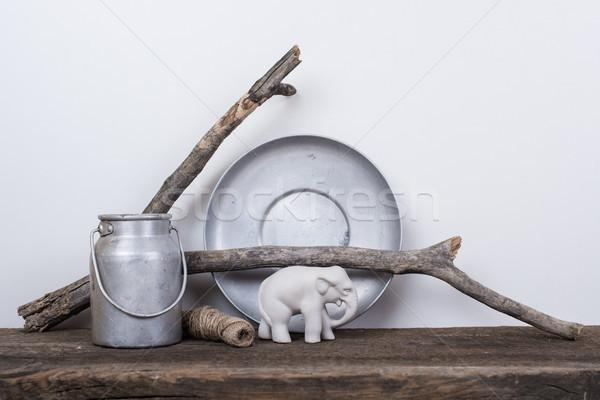 Estilo naturales madera rústico vintage Foto stock © manera