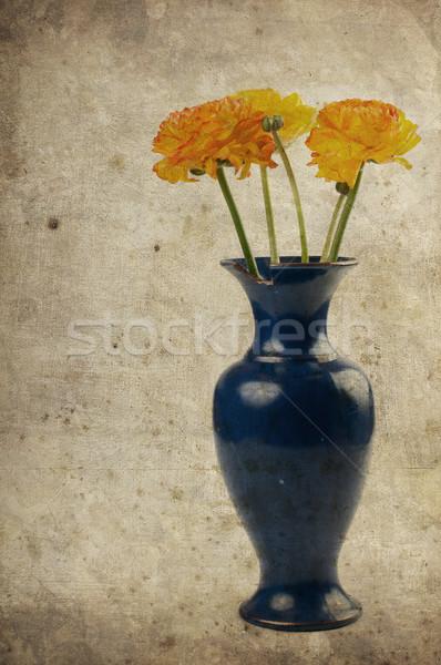 Vintage background with flowers Stock photo © manera