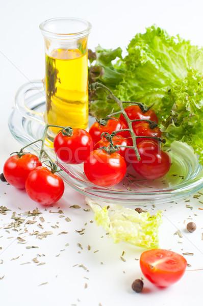 Vegetáriánus étel friss zöldségek gyógynövények étel egészség csoport Stock fotó © manera