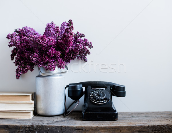 Photo stock: Intérieur · maison · bouquet · vase · vintage