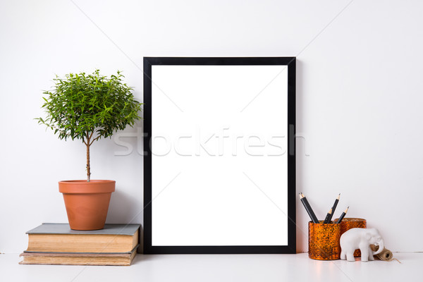 Modern home decor mock-up Stock photo © manera