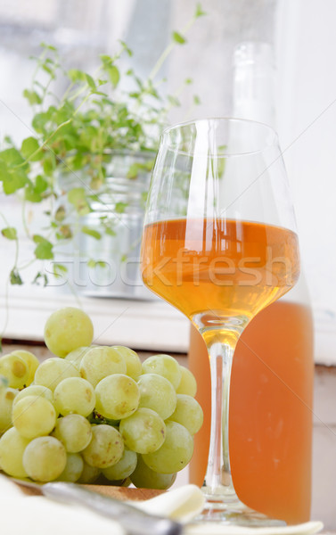 wine and grapes on a light background Stock photo © manera