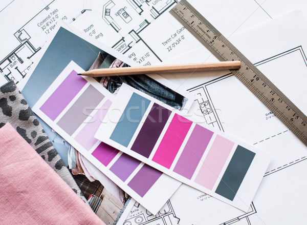 Interior designers working table Stock photo © manera