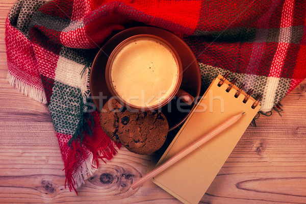 Cozy home coffee cup, warm details Stock photo © manera