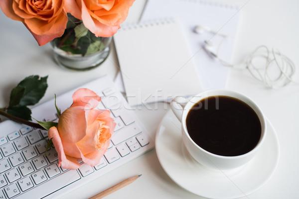 現代 作業領域 明るい 白 オフィス 表 ストックフォト © manera