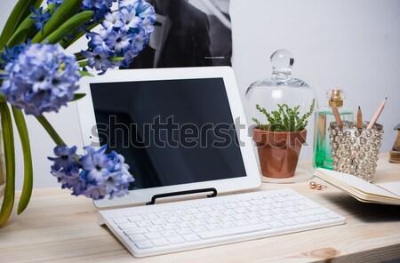 Moderno escritório interior trabalhando espaço Foto stock © manera
