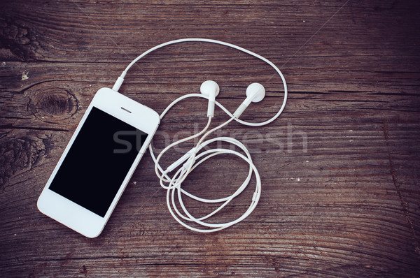 Stock photo: smartphone with headphones
