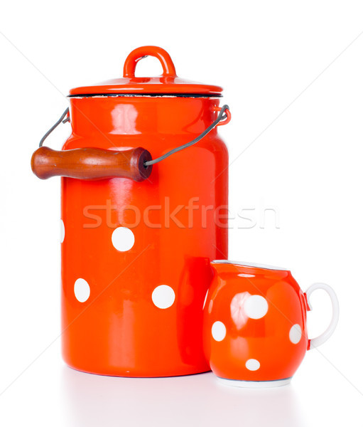 milk can and a creamer Stock photo © manera