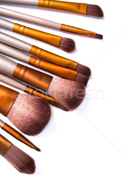 Makeup brushes set, beauty professional tools isolated  Stock photo © manera