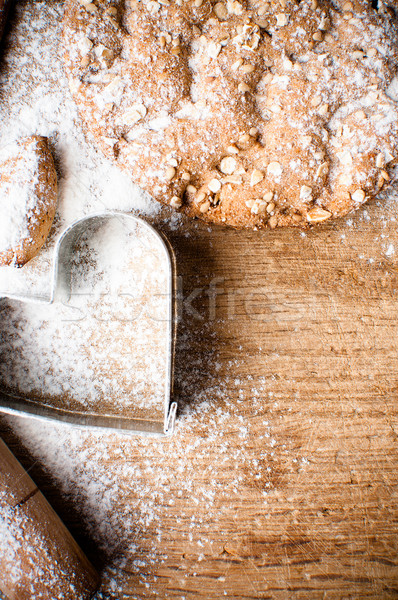Christmas and holiday baking background Stock photo © manera