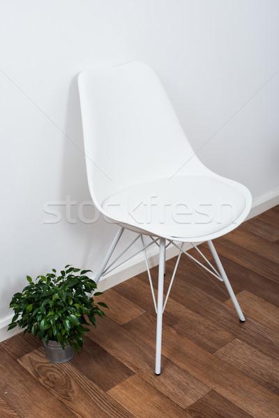 белый дизайнера Председатель зеленый домой Сток-фото © manera