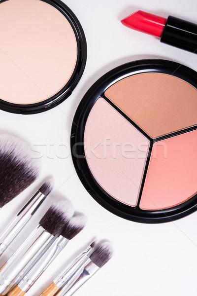 ストックフォト: プロ · 化粧 · ツール · 白 · 製品 · キット