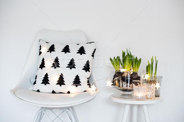 Stock photo: minimalist room decor