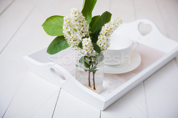 Stock photo: seasonal rustic table decor