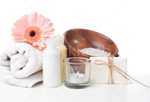 Сток-фото: продукции · Spa · тело · ухода · гигиена · белый