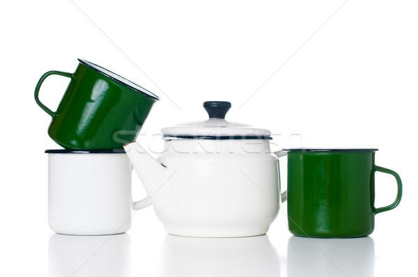 ホーム 台所用品 ヴィンテージ 孤立した 白 ストックフォト © manera