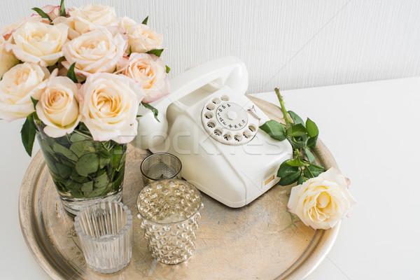 квартиру украшение ретро-стиле Vintage домой Сток-фото © manera