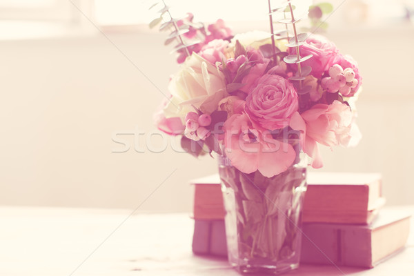 flowers and ancient books Stock photo © manera