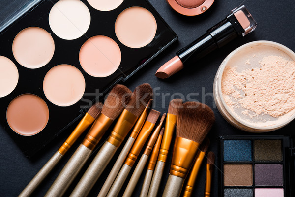 Professionnels maquillage outils produits ensemble Photo stock © manera