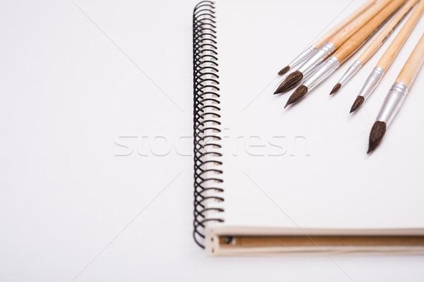 Photo stock: Couleur · pour · aquarelle · peinture · propre · papier · travaux · bureau