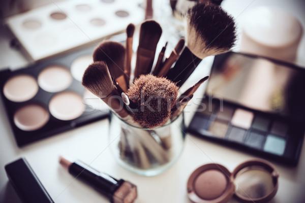 Zawodowych makijaż narzędzia produktów zestaw naturalnych Zdjęcia stock © manera