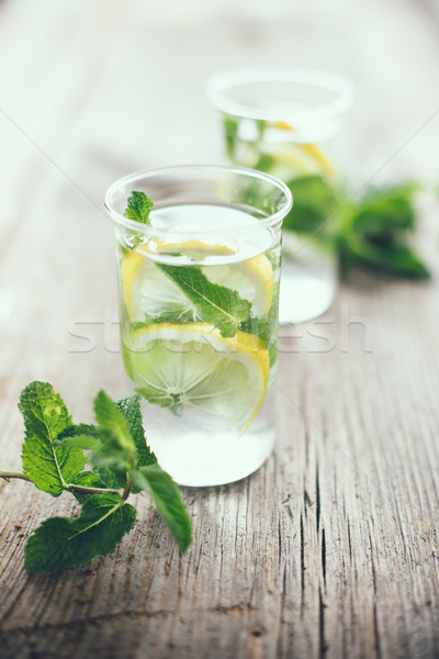 refreshing summer detox drink Stock photo © manera