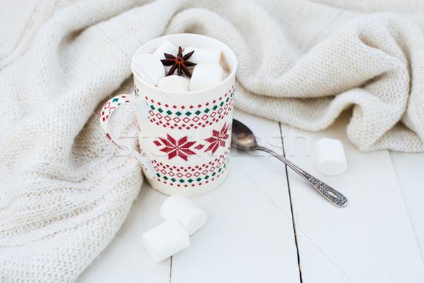 Ptasie mleczko star anyż zimą domu Zdjęcia stock © manera